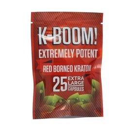 K-Boom Red Borneo Kratom 25 Capsules by K-Boom