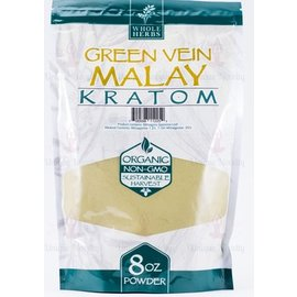 Whole Herbs Kratom 8 oz Green Vein Malay by Whole Herbs