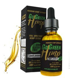 Go Green Hemp CBD Oil Tincture Unflavored 1000mg by Go Green Hemp