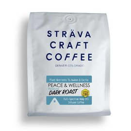 Strava Craft Coffee CBD Coffee - Restore Dark Roast 120mg 12oz by Strava Craft Coffee