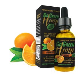 Go Green Hemp CBD Oil Tincture Orange 500mg by Go Green Hemp