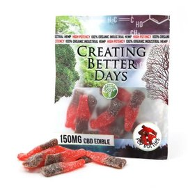 Creating Better Days CBD Pop Bottles Gummies 150mg 15mg each by Creating Better Days