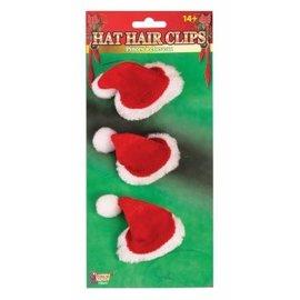 Forum Novelties Santa Hat Hair Clips, 3 pcs - Plush by Forum Novelties