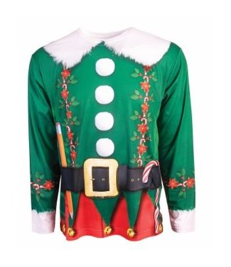 Forum Novelties Instant Elf Long Sleeve T-Shirt, Photo Realisitc, - Adult Med 38-40 by Forum Novelties