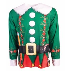 Forum Novelties Instant Elf Long Sleeve T-Shirt, Photo Realisitc, - Adult Large 42-44 by Forum Novelties