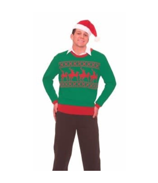 Forum Novelties Christmas Sweater Reindeer Games X-Rated Med 38-40 by Forum Novelties