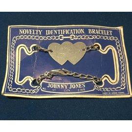 ETSY Vintage Novelty Identification Bracelet, Hearts - Johnny Jones