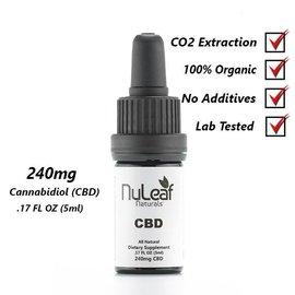 NuLeaf Naturals NuLeaf Naturals Full Spectrum 240mg/5ml//24mg CBD Oil Tincture
