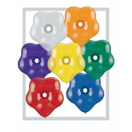 Qualatex Geo Blossom Balloons, 6 inch - Jewel Tone Assortment 100ct