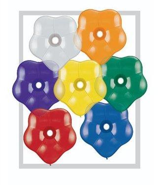 Qualatex Geo Blossom Balloons, 6 inch - Jewel Tone Assortment 100ct