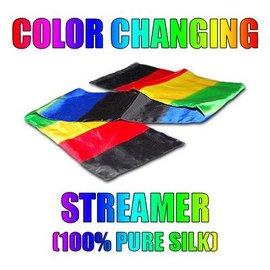 Silk Color Changing Streamer, 4 Foot by Daytona Magic M10