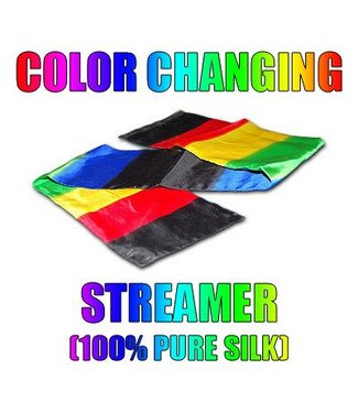 Silk Color Changing Streamer, 4 Foot by Daytona Magic M10