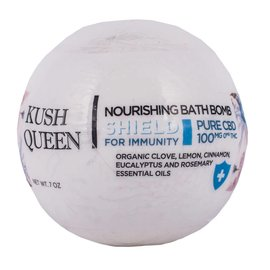 Kush Queen Nourishing Bath Bomb Shield for Immunity 100mg CBD Bathbomb by Kush Queen