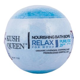 Kush Queen Nourishing Bath Bomb Relax for Mood 25mg CBD by Kush Queen