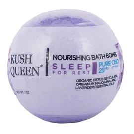 Kush Queen Nourishing Bath Bomb Sleep for Rest 25mg CBD by Kush Queen