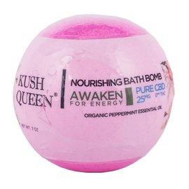 Kush Queen Nourishing Bath Bomb Awaken for Energy 25mg CBD by Kush Queen