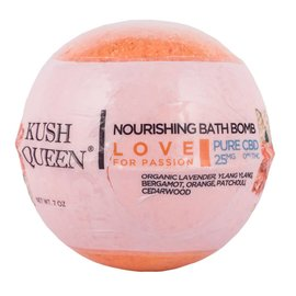 Kush Queen CBD Nourishing Bath Bomb Love for Passion 25mg by Kush Queen