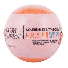 Kush Queen Nourishin Bath Bomb Love for Passion 25mg CBD by Kush Queen