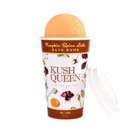 Kush Queen Pumpkin Spice 25mg CBD Bath Bomb by Kush Queen