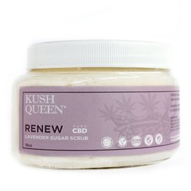 Kush Queen CBD Renew Lavender Sugar Scrub 100mg 16oz by Kush Queen