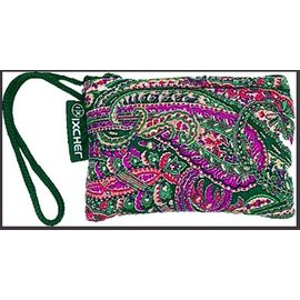 "Paisley printed cotton glass protectionpouch with zipper closure 3""x5"" by Ixchel Inc."