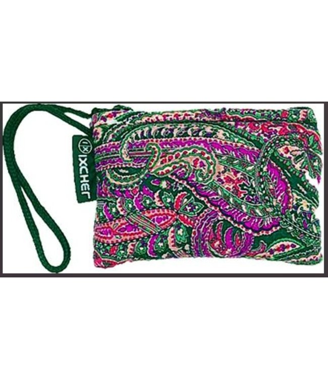"""Paisley printed cotton glass protectionpouch with zipper closure 3""""x5"""" by Ixchel Inc."""