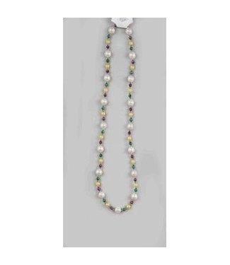 Forum Novelties Mardi Gras Beads 20mm Pearl 48 inch