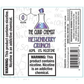 The Cloud Chemist Heisenberry Crunch 0mg 60ml by The Cloud Chemis Vapes