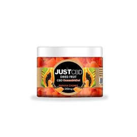 Just CBD CBD Dried Fruit, Papaya Chunks 250mg Jar/16pcs/16mg by Just CBD