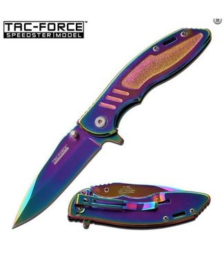 Knife Speedster Spring Assist, Rainbow Ti-Coated by Tac-Force