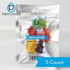 Hemplucid CBD Full Spectrum Whole-Plant Gummies 125mg/25mg/5ct by Hemplucid