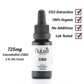 NuLeaf Naturals CBD Full Spectrum Oil Tincture 725mg/15ml/48mg by Nuleaf Naturals