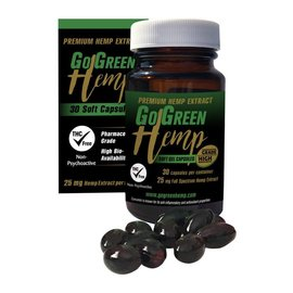 Go Green Hemp Go Green Hemp CBD Soft Gel Capsules 25mg 30ct