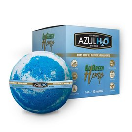 Go Green Hemp CBD Bath Bomb H20 Azul 40mg by Go Green Hemp