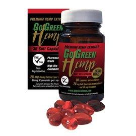 CBD Soft Gel Capsules 25mg w/ 10mg Curcumin by Go Green Hemp