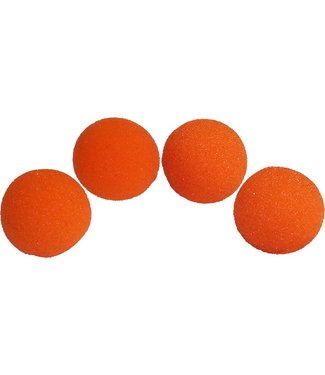 1 inch Sponge Balls, Super Soft - Orange by Magic By Gosh (M12)