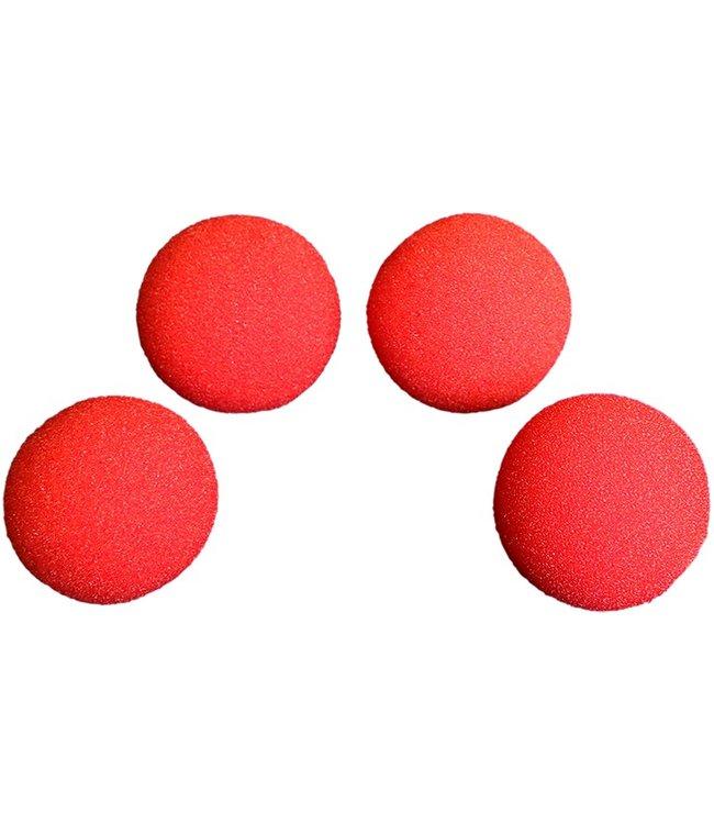 1 1/2 inch Super Soft Sponge Balls - Red by Magic By Gosh (M12)