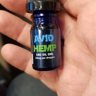 Avid Hemp CBD Avid Hemp 5ml/34mg/170mg Tincture