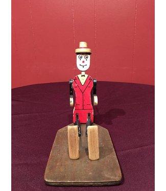 ETSY Vintage Clog Dancer Puppet red/blk Dark Paddle