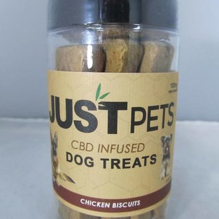 CBD Infused Chicken Biscuits for Dogs 100mg by Just Pets