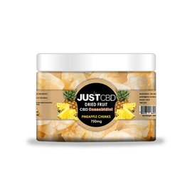 CBD Dried Fruit Pineapple Chunks 750mg/15mg/50pcs by Just CBD