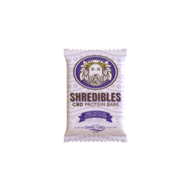 Shredibles 20mg Dark Chocolate Blueberry Almond CBD Protein Bar