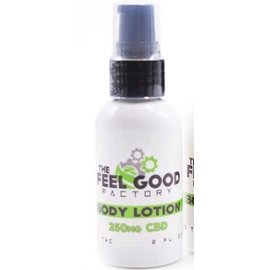 The Feel Good Factory CBD Body Lotion, Pump 2oz 250mg by The Feel Good Factory