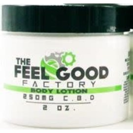 The Feel Good Factory CBD Body Lotion, Jar 2oz 250mg by The Feel Good Factory