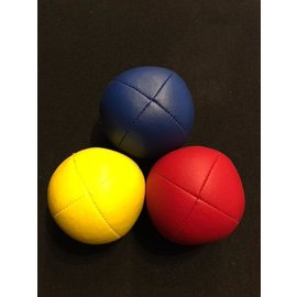 Juggling Balls Pro, 4 Panel 3 Set Red/Red, Ylw/Ylw. Blu/Blu Ultra Leather Bird Seed Filled by Ronjo