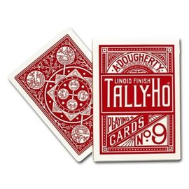 Playing Cards Tally-Ho Poker Fan, Red