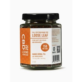 Water For Living CBD Living Mango Herbal Tea 150 mg/7.5mg