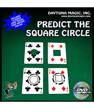 Predict The Square Circle with DVD by Daytona Magic - Card (M10)