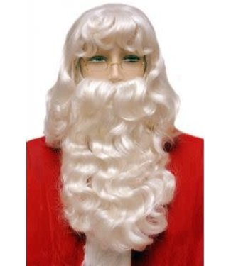 Morris Costumes and Lacey Fashions Exemplary Santa Wig And Beard Set