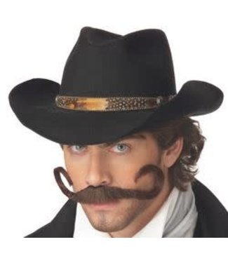Gunslinger Moustache, Brown by California Costumes